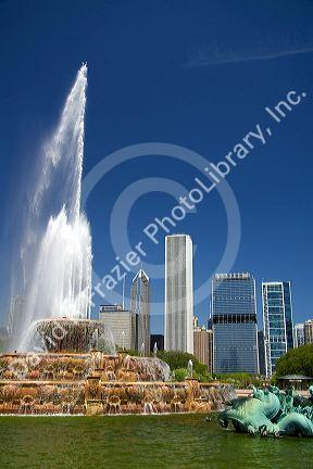 Buckingham Fountain located in Grant Park, Chicago, Illinois, USA.