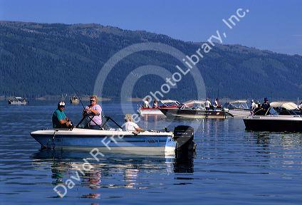 People fishing and boating on cascade lake idaho david for Cascade lake idaho fishing