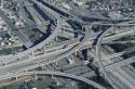 105 - 110 freeway interchange in Los Angeles, California.