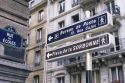 Directional signs in Paris, France.