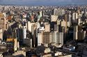 A view of Sao Paulo from the Edificio Italia building, Brazil.