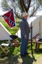 Confederate soldier at Civil war reenactment near Boise, Idaho.