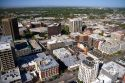 Aerial view of downtown Boise, Idaho.