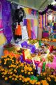 A display of offerings for the Day of Dead in Mexico City, Mexico.