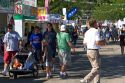 People walk amongst food stands at the Western Idaho Fair in Boise, Idaho.